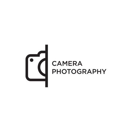 Camera photography logo design vector template