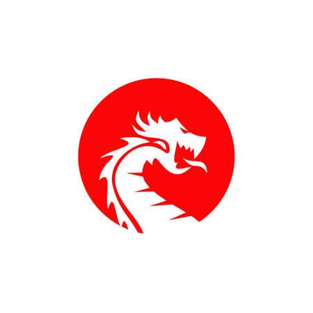 Dragon animal logo design vector template 写真素材 - 156108675