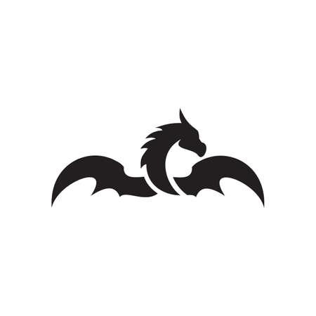 Dragon animal logo design vector template 写真素材 - 156108740