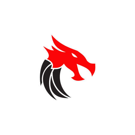 Dragon animal logo design vector template 写真素材 - 156108745