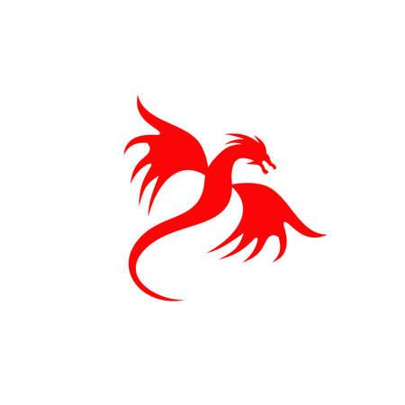 Dragon animal logo design vector template 写真素材 - 156108750