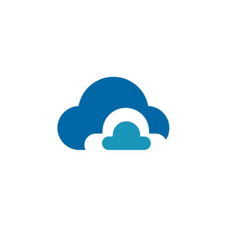 Cloud tech logo design vector template
