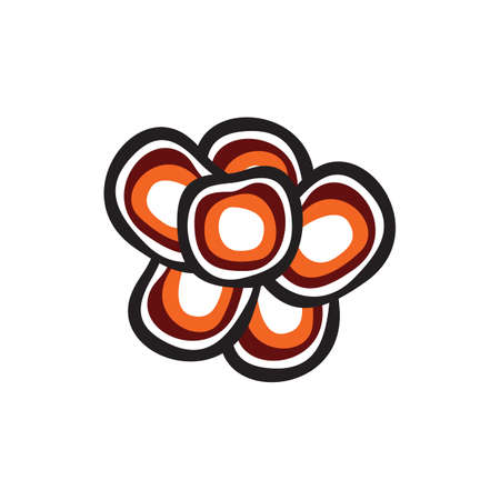 Mushroom plant logo design vector template