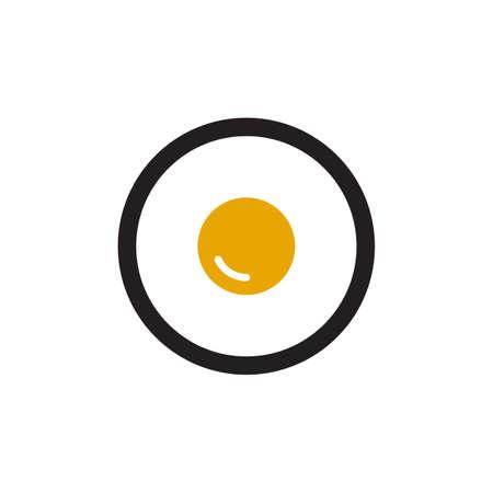 Scrambled egg logo design vector template 向量圖像