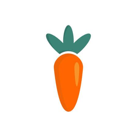 Carrot vegetable logo design vector template Ilustracja