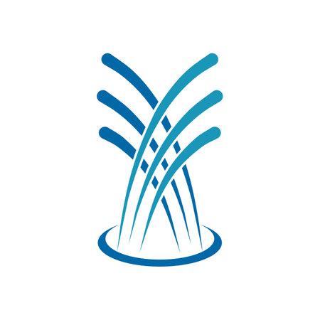 Fountain water logo design vector template