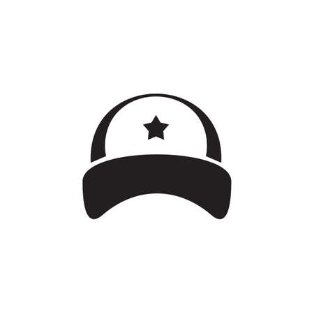 Outdoor cap logo design vector template