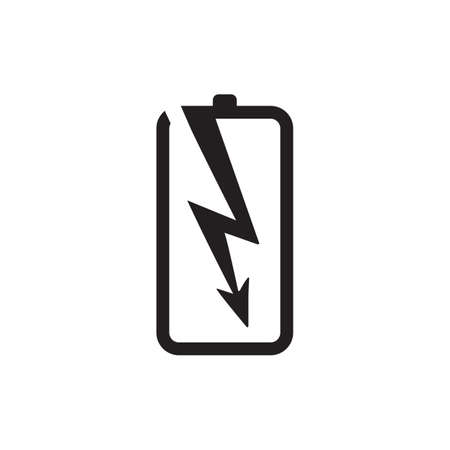 Power battery logo design vector template