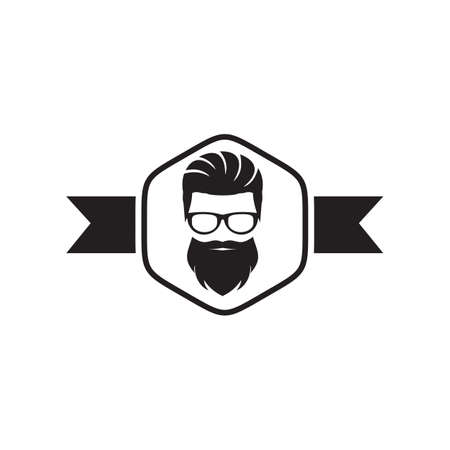 Barber shop logo design vector template  イラスト・ベクター素材