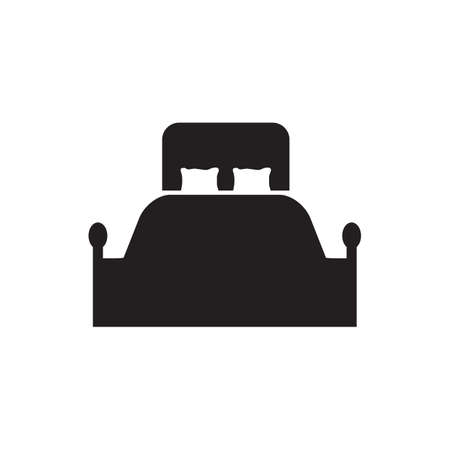 Bed logo icon design vector template