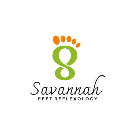 Sandals shop logo design vector template  イラスト・ベクター素材