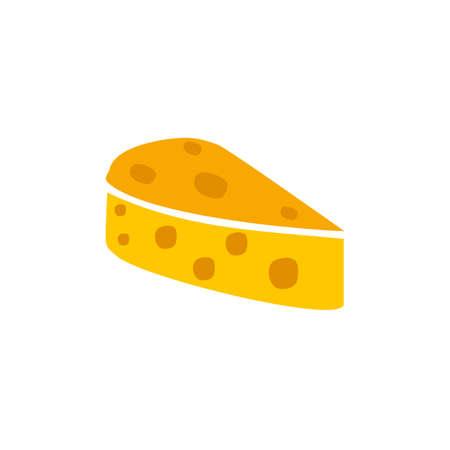 Cheese slice logo design vector template