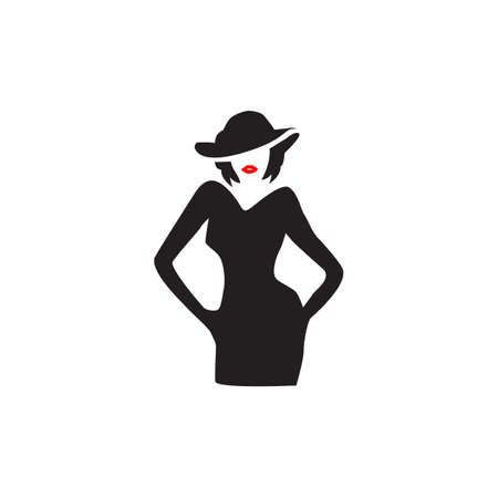 woman shape design vector template