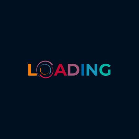 Loading circle logo design vector template Logo
