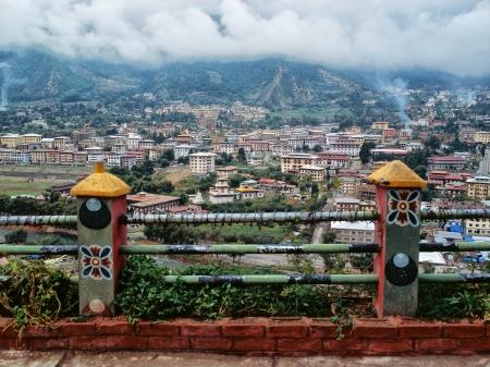 THIMPHU, BHUTAN - OKTOBER 2005  Capital of Bhutan
