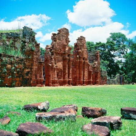 Jesuit mission ruins, San Ignacio Mini, Argentina