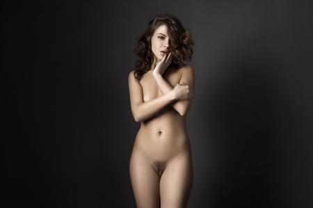 nude female buttocks: Sexy body nude woman. Naked sensual beautiful girl. Artistic  photo. Stock Photo