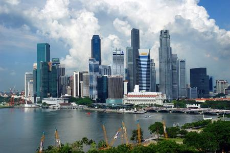 Singapore - May 2006: City center skyline