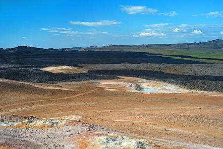 lava field: Lava field of the Krafla volcano in the north of Iceland. Myvatn district