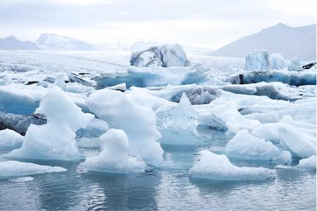 glacial: Jokulsarlon (literally glacial river lagoon) is a large glacial lake in southeast Iceland Stock Photo