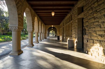Palo Alto, CA, USA - March, 2016: Stanford University Campus in Palo Alto, California