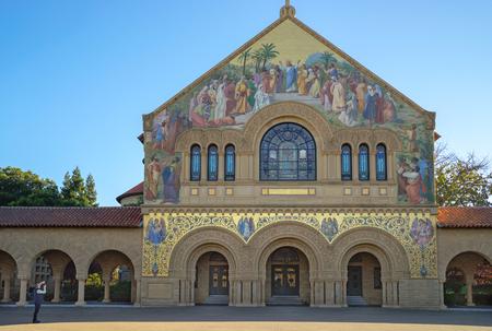 Palo Alto, CA, USA - March, 2016: Memorial Church at Stanford University Editorial