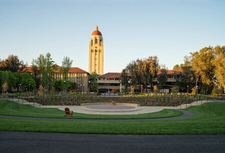 Palo Alto, CA, USA - March, 2016: Stanford University Campus in Palo Alto, California