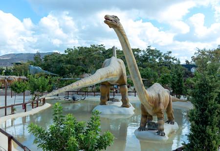Dinosaur park in Crete Editorial