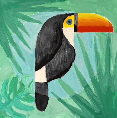 Watercolor painting of toucan