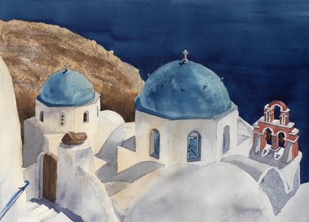 The most beautiful view of Santorini