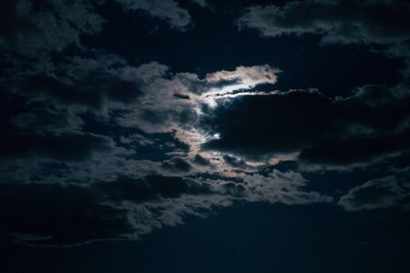 Real night sky with the moon