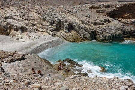 Avlaki beach on Cretan sea