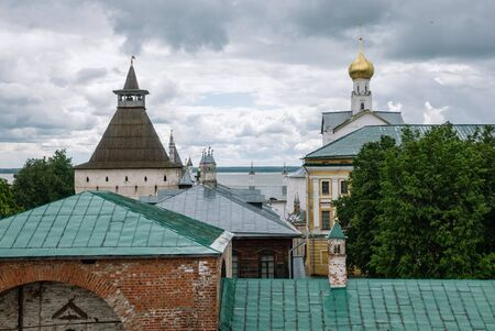 Roofs of ancient town of Rostov Velikiy