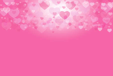 abstract heart: Valentine background vector pink heart abstract