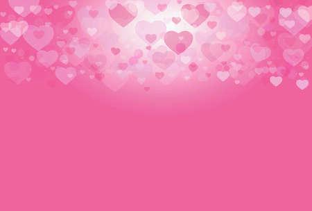 valentine          s day candy: Pink sweet love heart valentine background blur bokeh effect light
