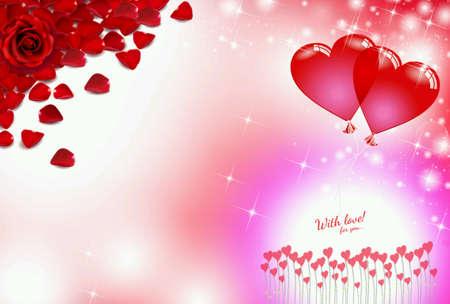 Roses Red Love Heart Valentine Background Blur Bokeh Effect Light ...