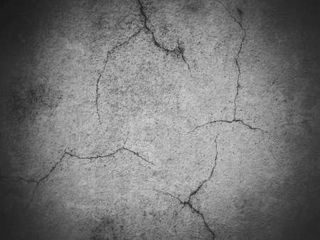 cracked concrete frame: Cracked cement wall grunge dark gray background