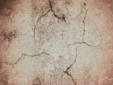 cracked concrete frame: Cracked cement wall grunge pink sepia vintage background