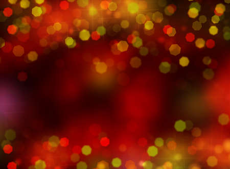 valentine card: christmas lights abstract background and border Stock Photo