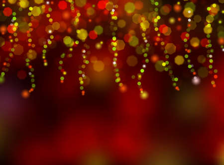 bokeh background: Christmas light with colorful bokeh background