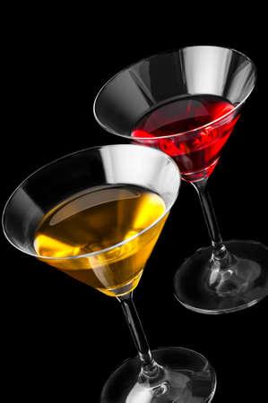 Martini on a black  Stock Photo