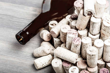 Wine bottle and corks photo