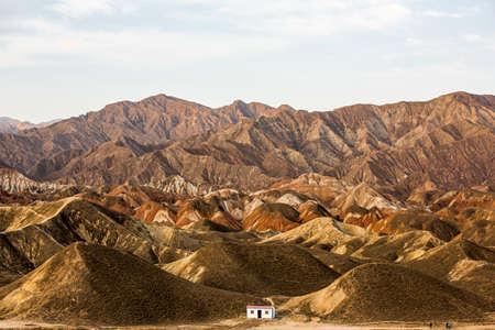 prov�ncia: Zhangye, prov�ncia de Gansu, cen�rio danxia landform Banco de Imagens