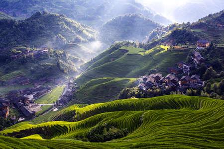 Guilin longji terraced landscape