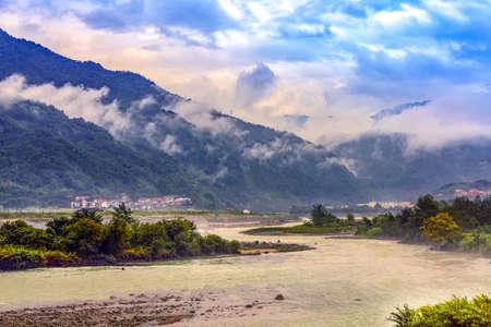 nature scenery: Dujiangyan dam nature scenery