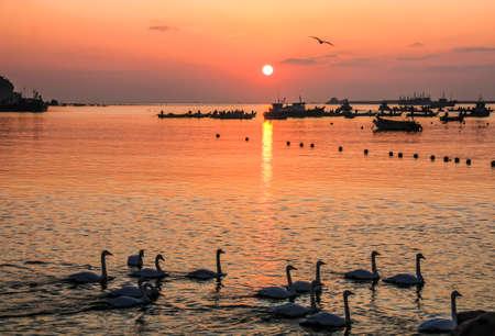 dun: Yan Dun Jiao Lake scenery Stock Photo