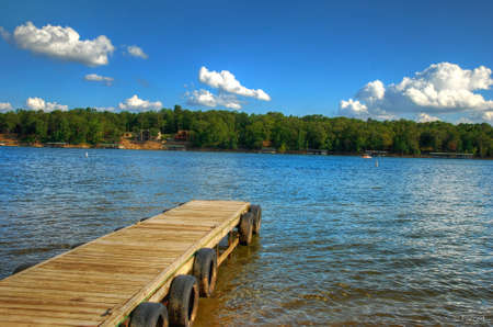 Lake Pier Stock Photo - 13384883