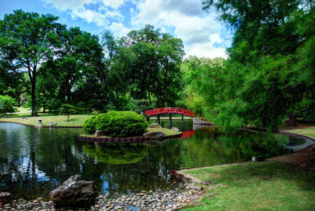 Japanese garden in Memphis Stock Photo