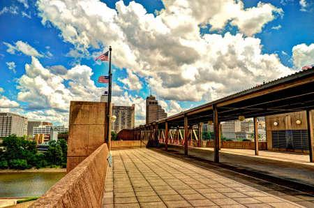 Downtown Memphis from Mud Island River Park Stok Fotoğraf