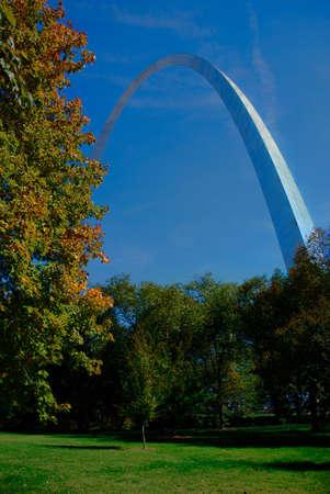 St Louis Gateway Arch shines in sunlight